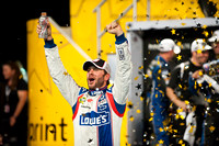 CHARLOTTE, NC - MAY 19: Jimmy Johnson celebrates the win at the