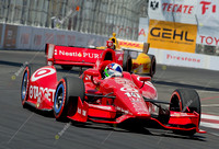 LONG BEACH, CA - APRIL 21:Dario Franchitti at the  Izod Indycar