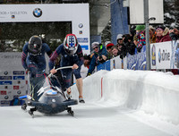 PARK CITY, UT - JAN 15: Team USA at the BMW IBSF Women Bobsleigh