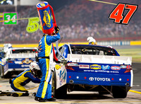 CHARLOTTE, NC - MAY 19: Bobby Labonte pit stop at the Nascar All
