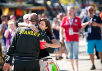 MIAMI, FL - Nov 14: Danica Patrick and Marcos Ambrose at the Nas