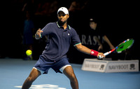 BASEL, SWITZERLAND - OCT 27: Donald Young in action vs Stan Wawr