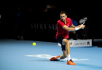 BASEL, SWITZERLAND - OCT 27: at the ATP 500 World Tour Swiss Ind