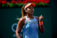 INDIAN WELLS, CA - MAR 05-18: Naomi Osaka playing the title matc