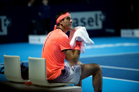 BASEL, SWITZERLAND - OCT 27: Juan Martin del Potro at the ATP 50
