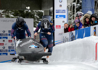 PARK CITY, UT - JAN 15: Team USA at tthe BMW IBSF Women Bobsleig