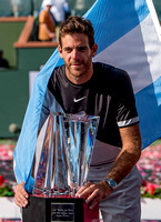INDIAN WELLS, CA - MAR 05-18: Juan Martin del Potro celebrates h