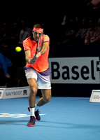 BASEL, SWITZERLAND - OCT 26: Juan Martin Del Potro at the ATP 50